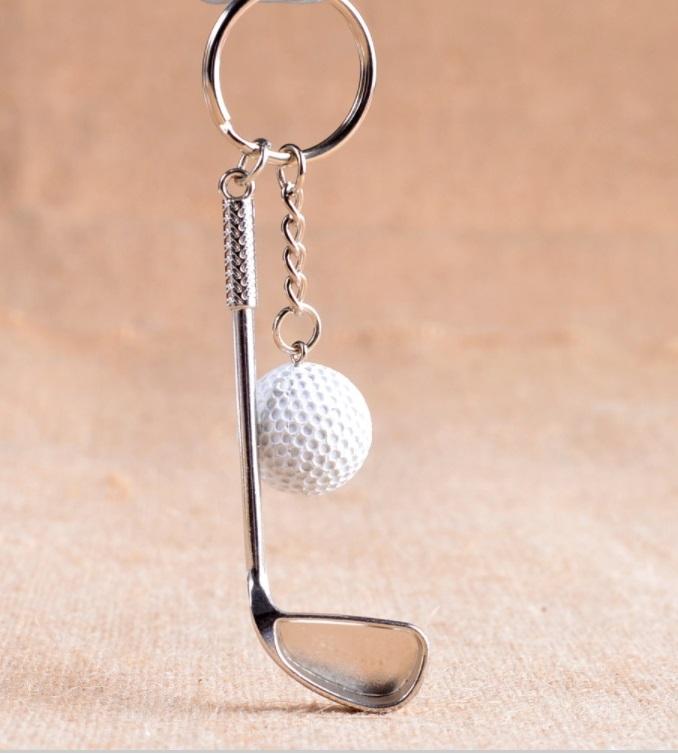 ll golf golf schl sselanh nger mit golfschl ger und golfball golf geschenk ebay. Black Bedroom Furniture Sets. Home Design Ideas